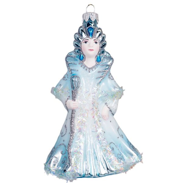 Picture of Snow Queen Hand Made Glass Christmas Tree Ornament