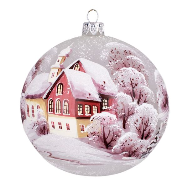 Picture of Street Hand Made Hand Painted Sfumato Glass Christmas Ball Ornament